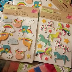 Unicorn and Sloth Stickers